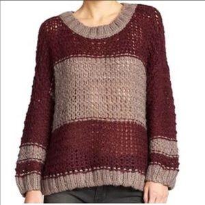 Free People Chunky Knit Alpaca Monaco Sweater